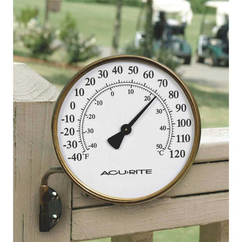 """Chaney Instrument 3.5"""" Brass Thermometer 00334A2"""
