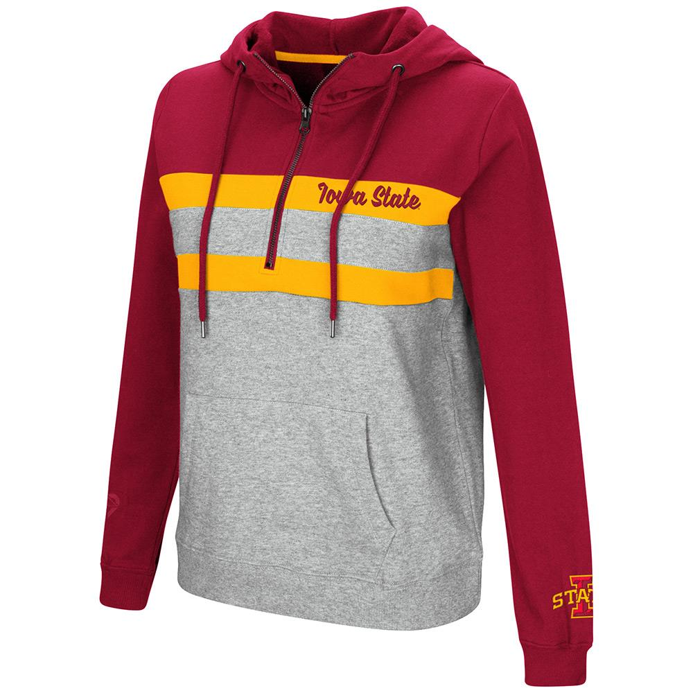 Womens Iowa State Cyclones Quarter Zip Pull-over Hoodie - S