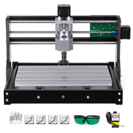 CNC3018 DIY CNC Router Kit 2-in-1 Mini Laser Engraving Machine GRBL Control 3 Axis for PCB PVC Plastic Acrylic Wood Carving Milling Engraving