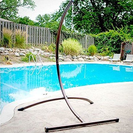 Hatteras Hammocks Steel Swing Stand - Zimtown Hammock C Type Frame Stand Solid Steel Construction For Hammock Air Porch Swing Chair