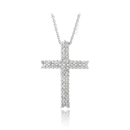 1/2ct Diamond Cross Slider Pendant Necklace (Sliders White Necklace)