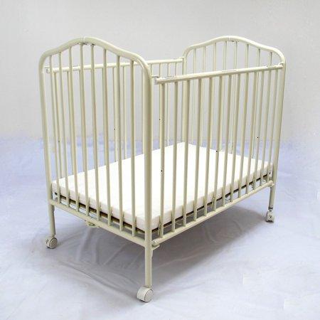 La Baby Compact Metal Folding Crib Walmart Com