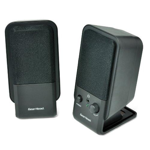 Gear Head SP2600ACB Powered 2.0 Desktop Speaker Spkr System