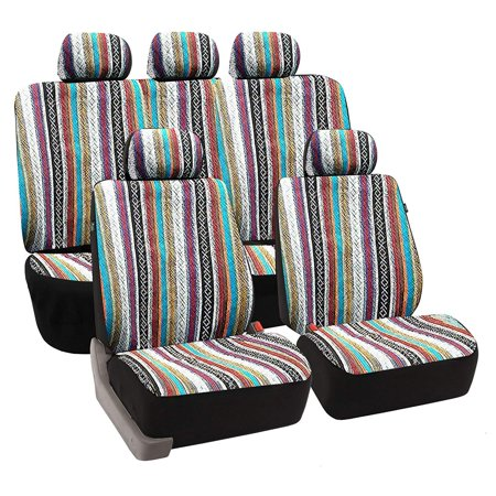 Baja Auto Interior Set Inca Saddle Blanket Premium Seat Cover Set, Front and Rear