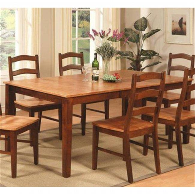 HT-BRN Henley Rectangular Dining Room Table 42 in. x 72 in. With 18 in. Butterfly Leaf, Cinnamon-Espresso