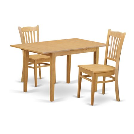 oak w 3 pc dining room set dinette table and 2 kitchen dining chairs