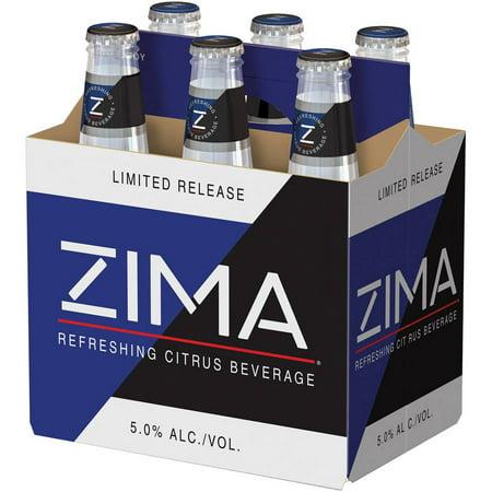 Zima Flavored Malt Beverage, 6 Pack, 12 fl. oz. Bottles, 5% ABV