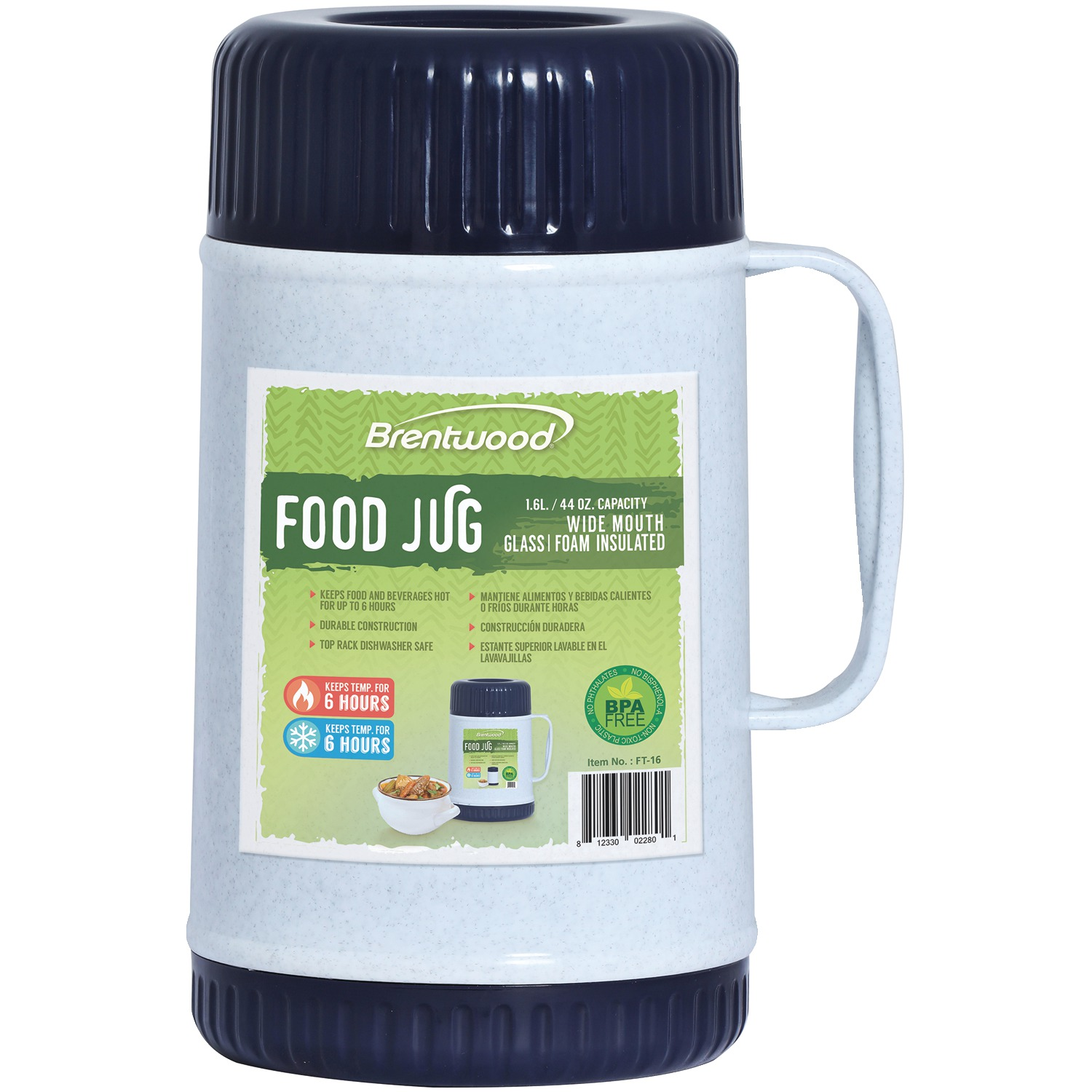 Brentwood Appliances FT-16 44-ounce Food Jug