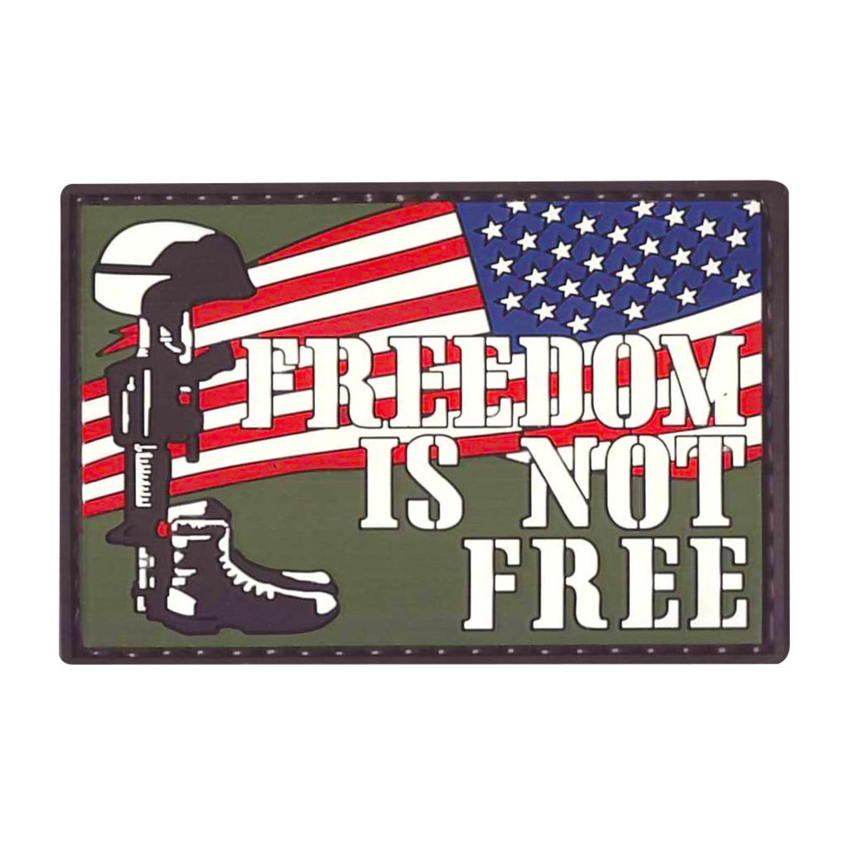 "5ive Star Gear Freedom Is Not Free PVC Patch, 2"" x 3"" Vinyl Morale Patch"