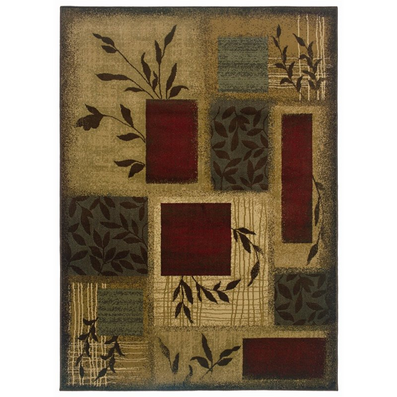 "Oriental Weavers Amelia 9'10"" x 12'9"" Machine Woven Rug in Beige"