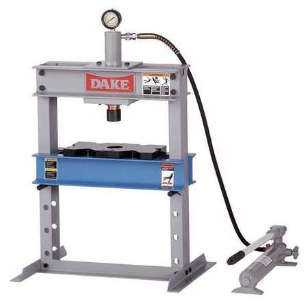 DAKE CORPORATION 972200 Hydraulic Press, 10 t, Manual Pump, 36 In
