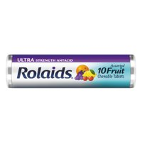 RolaidsUltra Strength Tablets, Fruit 10ct Roll