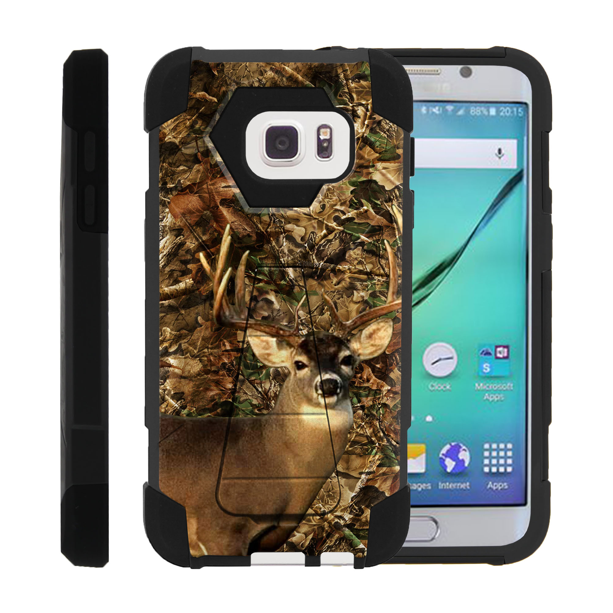 Case for Samsung S7 | S7 Hybrid Cover [ Shock Fusion ] High Impact Shock Resistant Shell Case + Kickstand - Deer Hunting