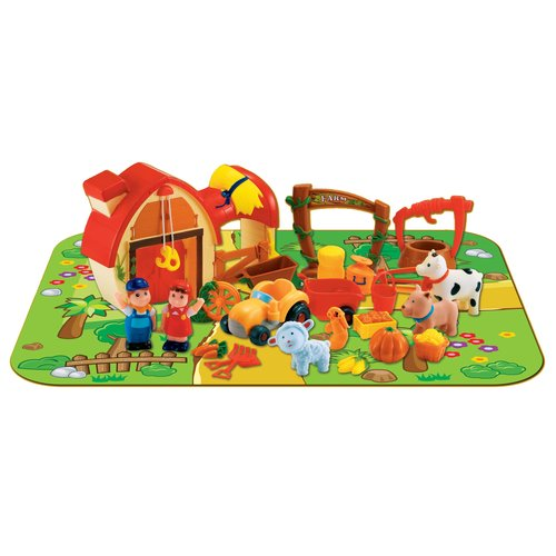 Pavlovz 24-Piece Farm Play Set with Play Mat by