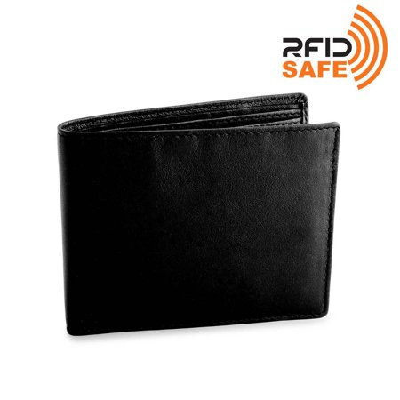 DiLoro Italy RFID Blocking Mens Deluxe Leather Wallet Bifold Double Billfold Black