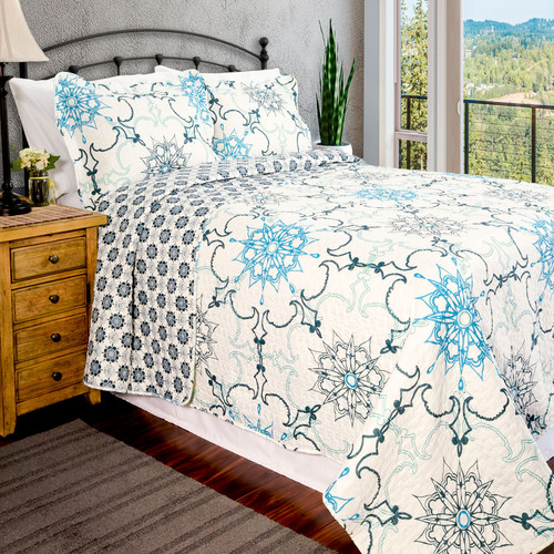 Pegasus Home Fashions Vintage Tiffany Quilt Set