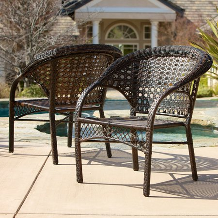 Home Loft Concepts Darlington Outdoor Wicker Chairs Set Of 2