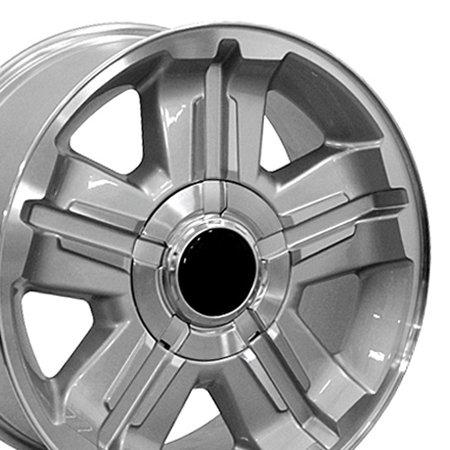 Chevy Yukon Wheels (OE Wheels 18 Inch - Fits Chevy Silverado, Tahoe, GMC, Sierra Yukon, Cadillac Escalade - CV88 Silver Machined 18x8 Rim Hollander)