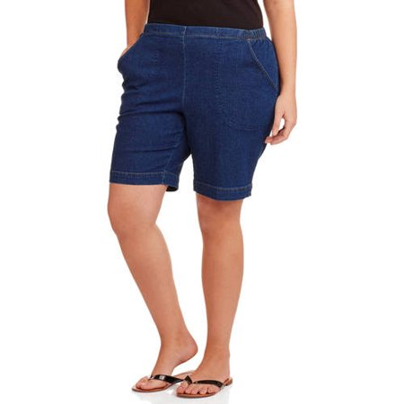 32d1fcd6a1521 Just My Size - Just My Size Women's Plus-Size 2 Pocket Pull-On Shorts -  Walmart.com