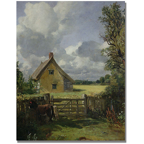 "Trademark Fine Art ""Cottage in a Cornfield"" Canvas Wall Art by John Constable"