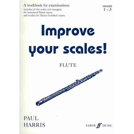 Alfred 12-0571520243 Improve Your Scales Flute- Grade 1-3 - Music Book