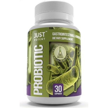 Just Potent Probiotic Supplement :: 35 Billion CFUs Per Capsule :: 8 Powerful and Essential Strains :: Guaranteed Potency & CFUs Through Expiration :: Survives Stomach (Best Time To Take Probiotics For Constipation)