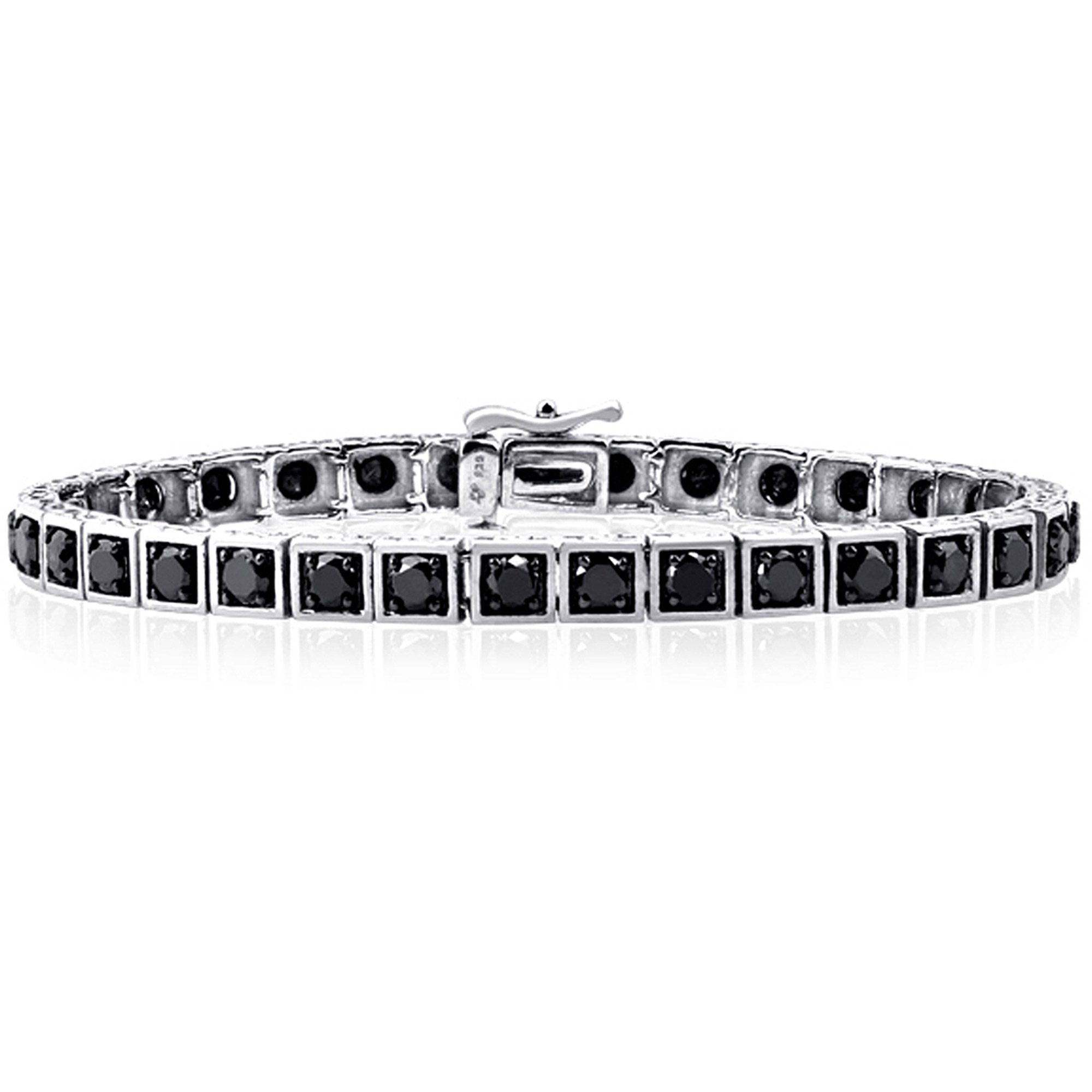 JewelersClub 5.00 Carat T.W. Black Diamond Sterling Silver Bracelet by JewelersClub