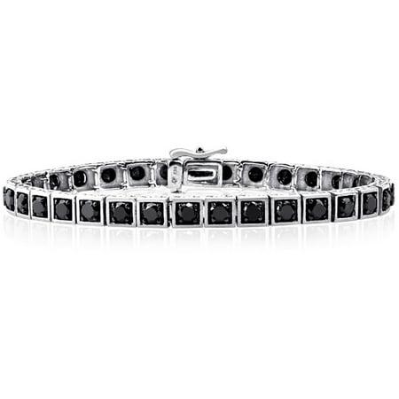 5.00 Carat T.W. Black Diamond Sterling Silver Bracelet