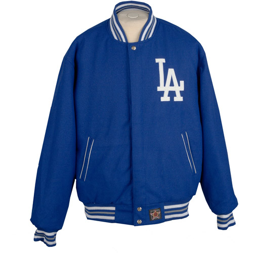 JH Designs - Men's MLB Los Angeles Dodgers Wool Reversible Jacket