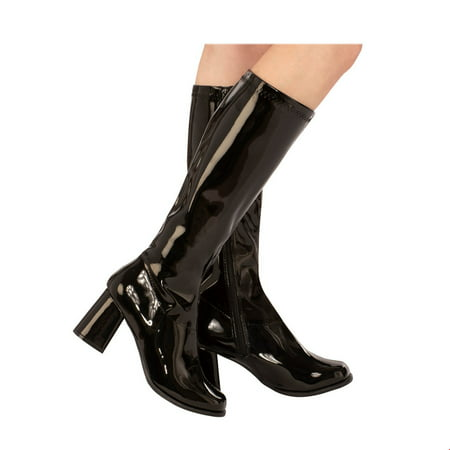 Adult GoGo Boot Black Halloween Costume Accessory (Halloween Costumes Short Black Hair)