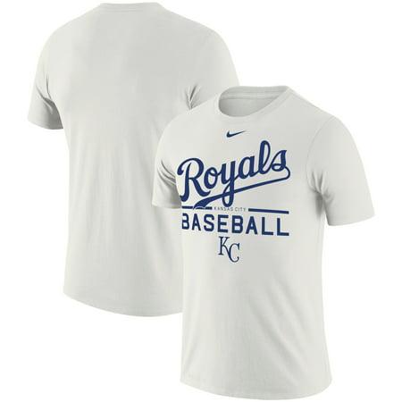 Nike Basketball Practice Tee (Kansas City Royals Nike Practice Performance T-Shirt - White)