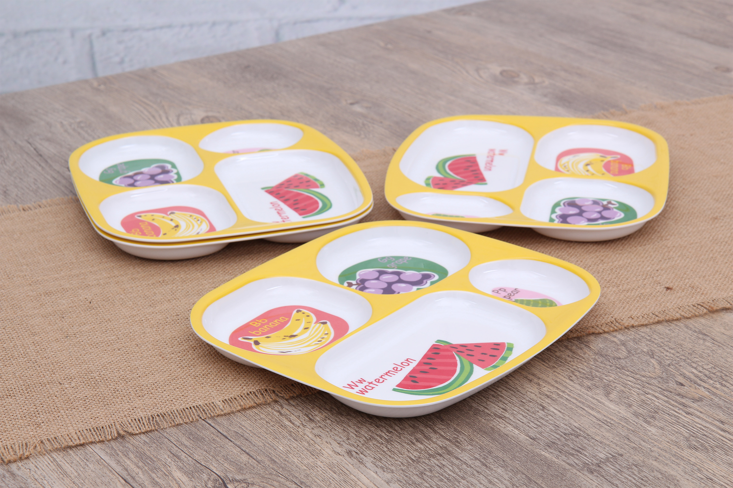 Mainstays Kids 4-Pack Melamine...