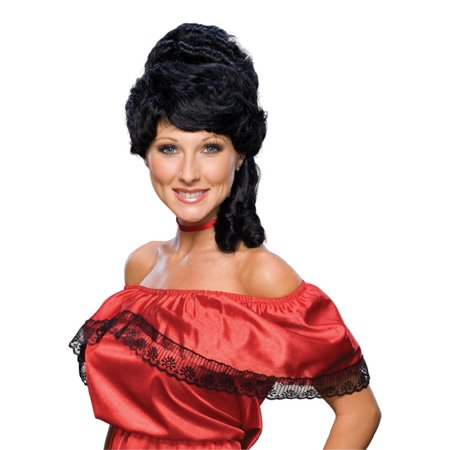 Colonial Woman Black Wig Rubies 50799, One Size