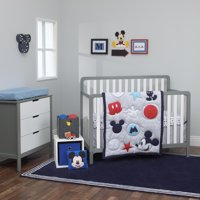 Disney Amazing Mickey Mouse 3 Piece Nursery Crib Bedding Set