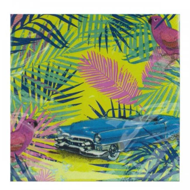 Tropical Cruise Party Napkins (Available in a pack of 24)