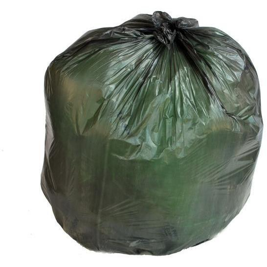 PlasticMill 20-30 Gallon, High Density, Black, 8 Micron, 30x37, 500 Bags/Case, Garbage Bags / Trash Can Liners.