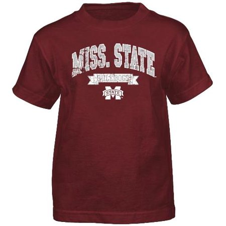 Mississippi State Bulldogs NCAA Crackle Print Team Name & Logo T-shirt