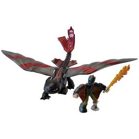 DreamWorks Dragons, Dragon Riders, Hiccup and Toothless Figures - Toothless And Hiccup