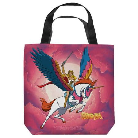 Cartoon Tote Bag (She-Ra Princess Of Power Cartoon TV Series She-Ra And Swift Wind Tote Bag )
