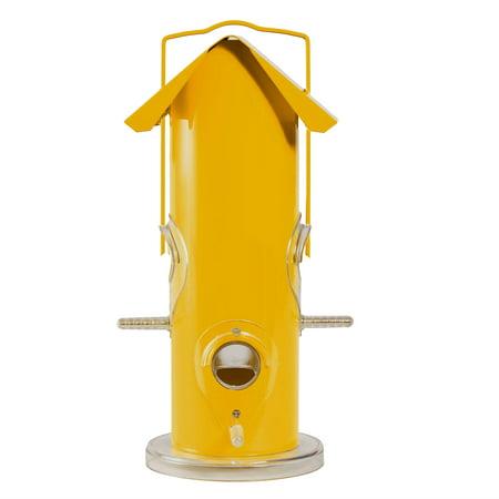Perky-Pet Yellow Metal Tube Wild Bird Feeder ()