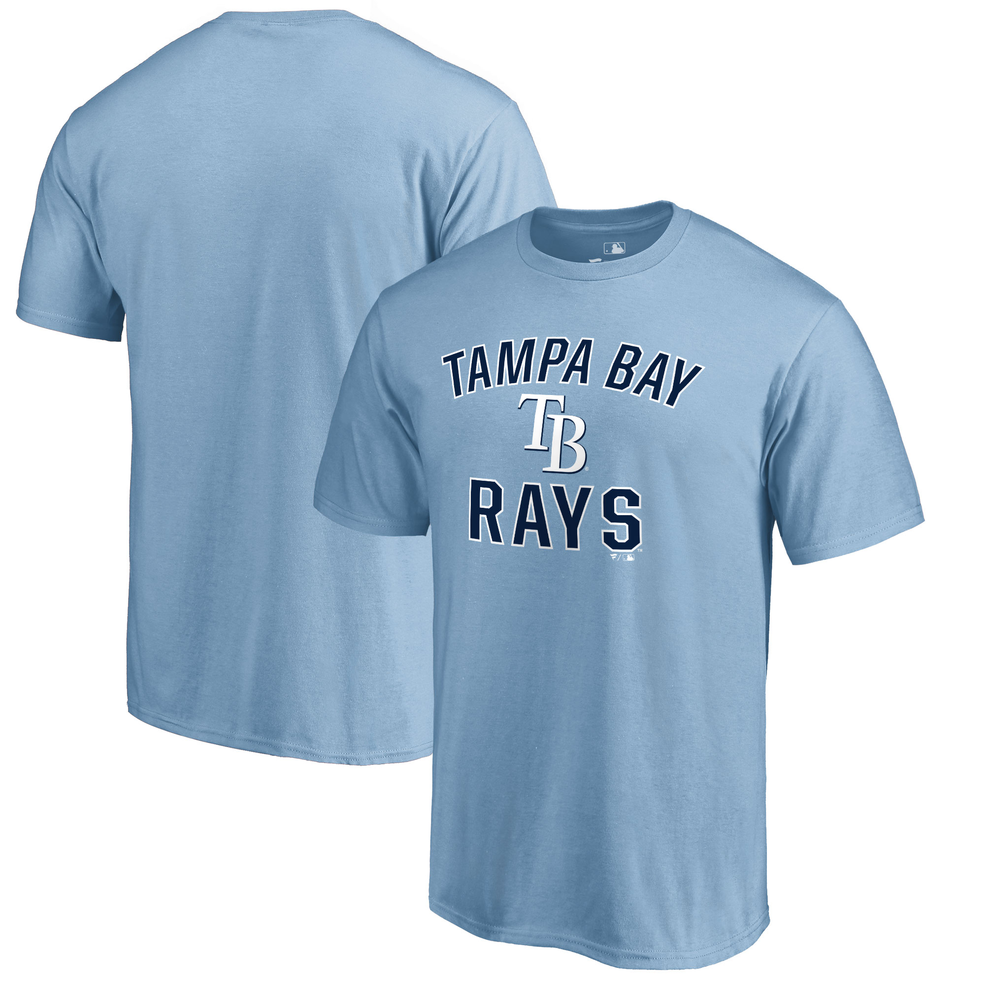 Tampa Bay Rays Victory Arch T-Shirt - Light Blue