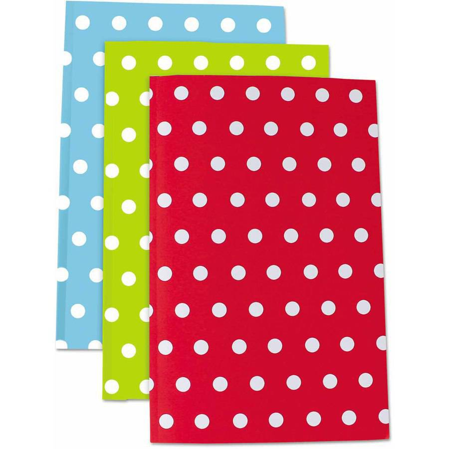 "Roaring Spring Modern Jen Journals, 5 1/2 x 8-1/2"", Narrow Rule, Assorted, 50 Sheets, 3-Pack"