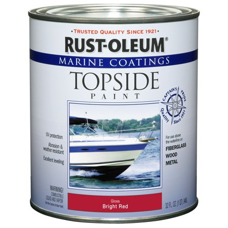 Rust-Oleum Marine Coatings Topside Marine Paint Gloss Bright Red,