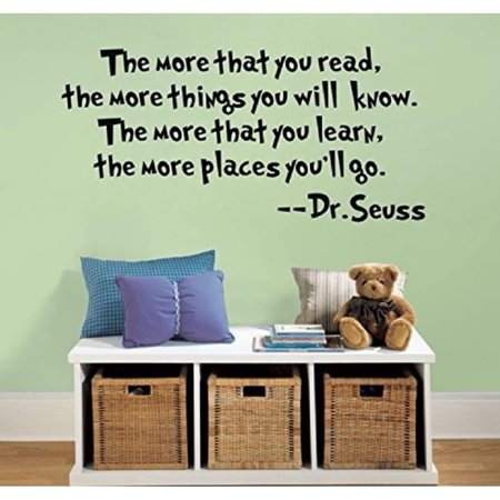'The More That You Read' Dr. Seuss Vinyl Wall Decal](Dr Seuss Giant Wall Decals)