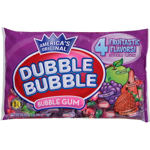 Dubble Bubble Assorted Flavors Bubble Gum, 16 oz