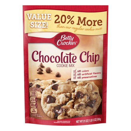 Betty Crocker Chocolate Chip Cookie ((2 Pack) Betty Crocker Value Size Chocolate Chip Cookie Mix, 21 oz)