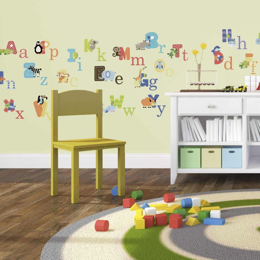 Animal Alphabet Baby Nursery L Andstick Wall Art Sticker Decals Pre Cut Stick By Cherrycreek