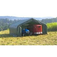ShelterLogic 86051 30x28x16 Peak Style Shelter, Grey Cover