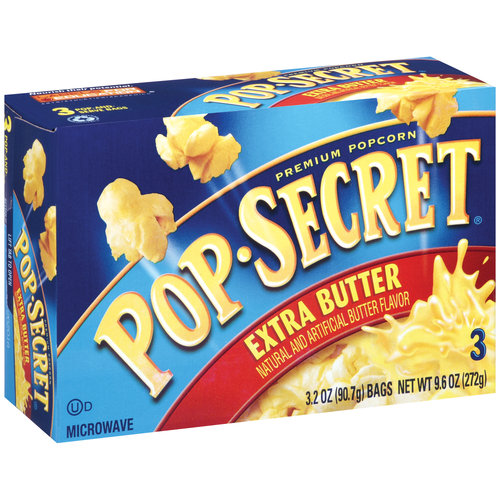 Pop Secret Extra Butter Premium Popcorn, 3.2 oz, 3 count