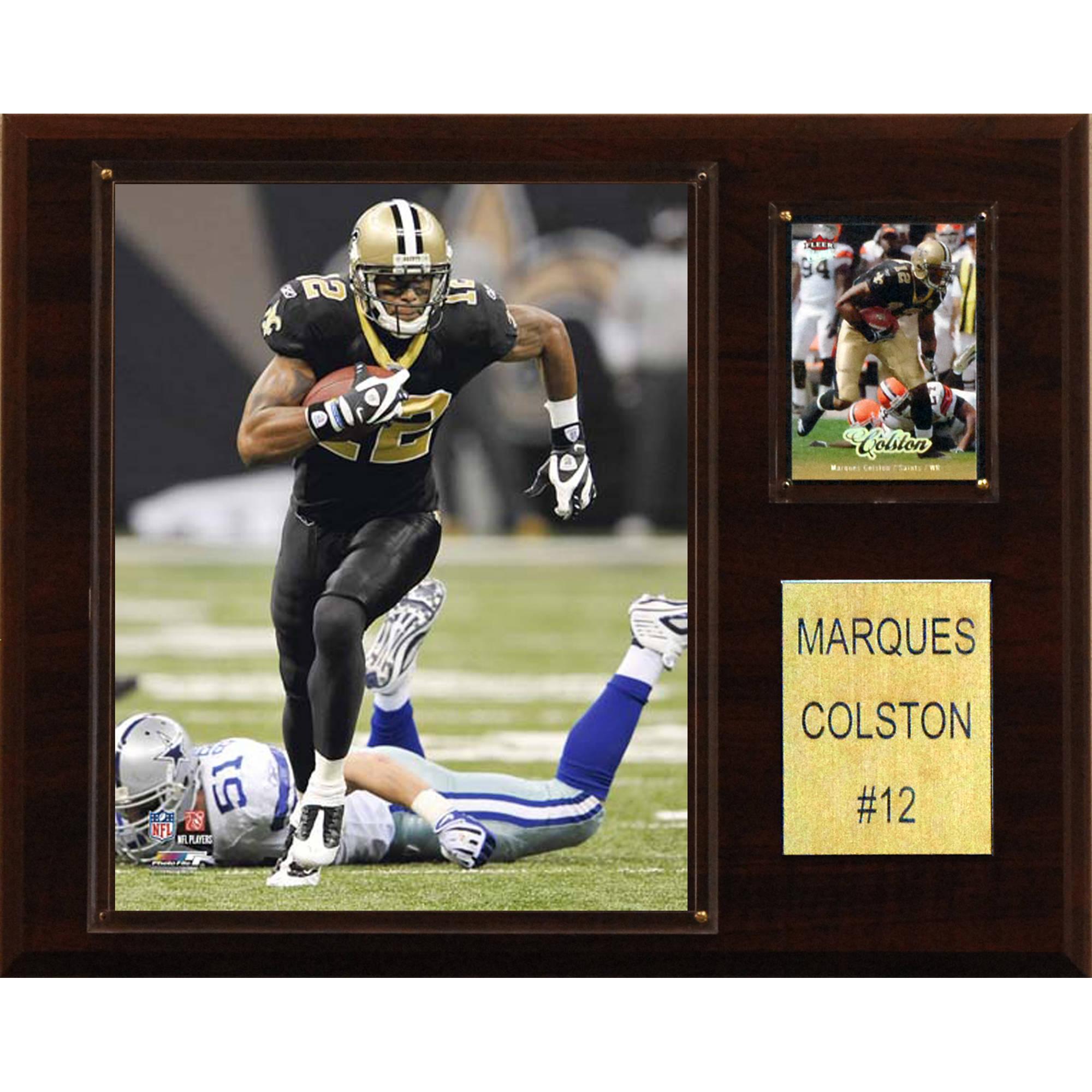 C&I Collectables NFL 12x15 Marques Colston New Orleans Saints Player Plaque